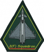 No. 3 (F) Squadron Royal Air Force RAF Eurofighter Typhoon Spearhead Embroidered Patch
